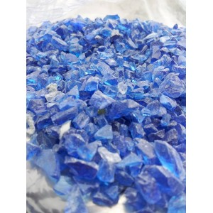 Mėlyna stiklo skalda 3/8 mm, 20 kg